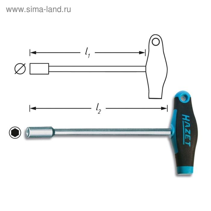 Ключ торцевой HAZET 428-8, шестигранный, 8мм