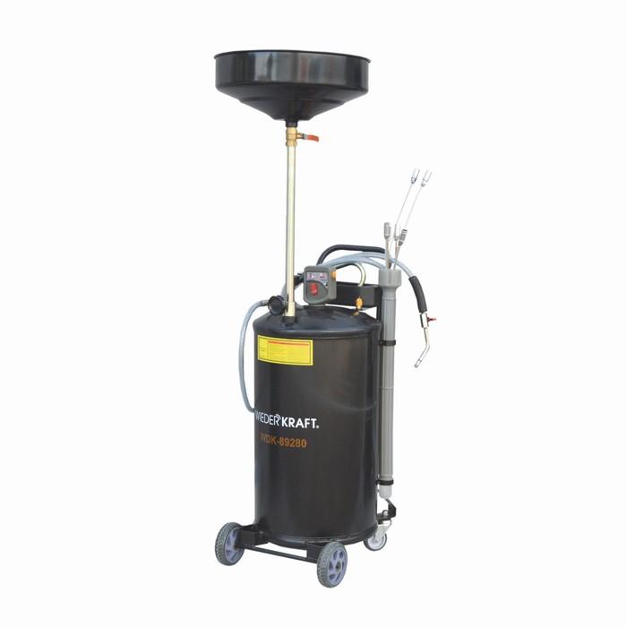 Установка для слива жидкостей WIEDERKRAFT WDK-89280, вакуумная вытяжная система, бак-70л.