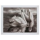 "Картина ""Два лебедя"" 35х45 см"