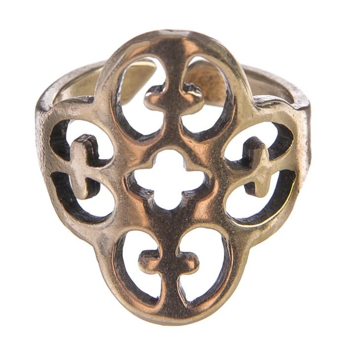 Перстень «Крестоносец»  литой,латунь диаметр 17-21 мм