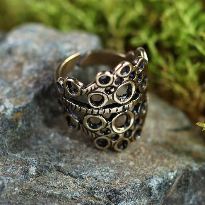 Перстень «Солнечник», литой,латунь, D=17-21 мм
