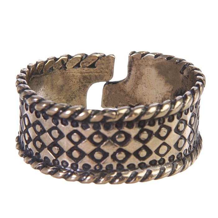 Перстень «Русь» литой, латунь диаметр 17-21 мм