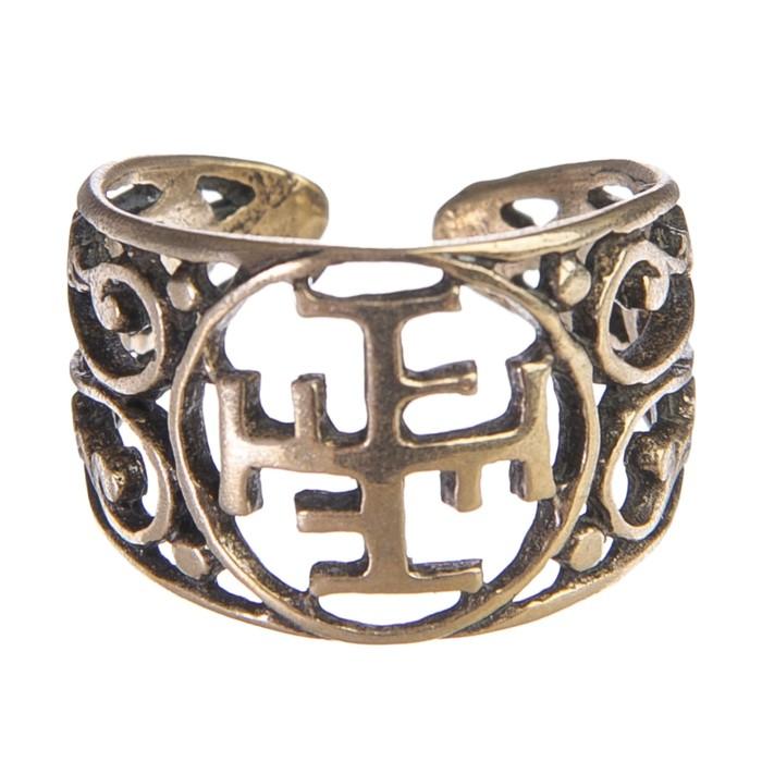 Перстень «Ратиборец» литой, латунь диаметр 17-21 мм