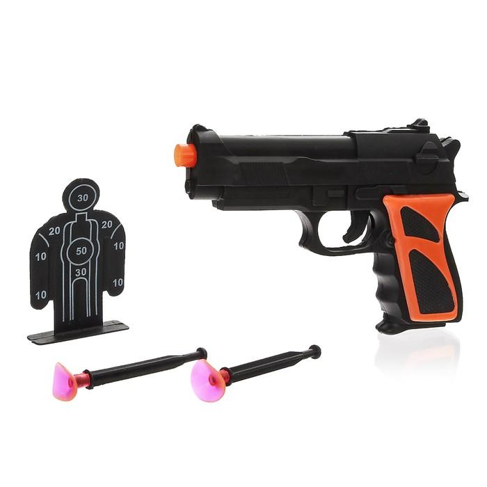"""Пистолет """"Дарт"""", с мишенью, стреляет присосками"""