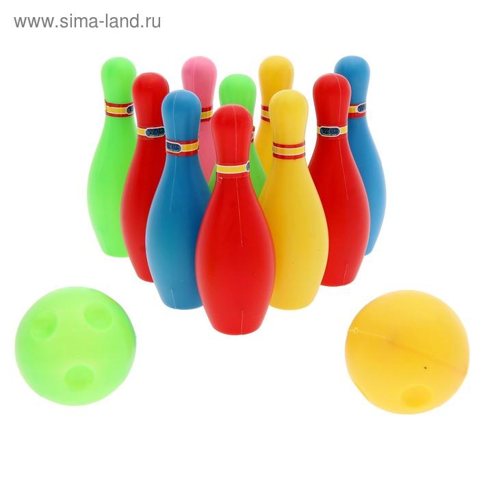"""Набор для боулинга """"Страйк"""", 10 кеглей (высота 10,5 см), 2 шара"""
