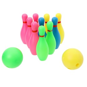 Набор для боулинга 'Спорт', 10 кеглей (высота 16 см), 2 шара Ош