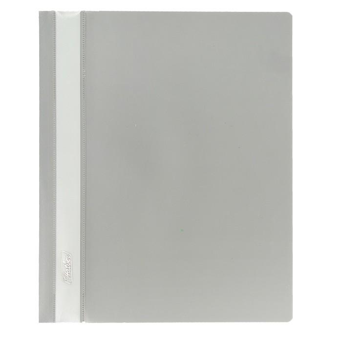Папка-скоросшиватель А5, 140/180 мкм Hatber серая