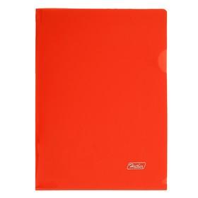 Папка-уголок А5, 180 мкм, красная