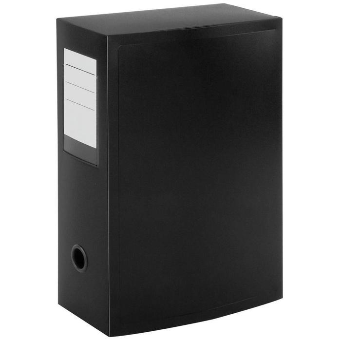 Короб архивный на кнопке разборный, пластик, 100 мм, чёрный