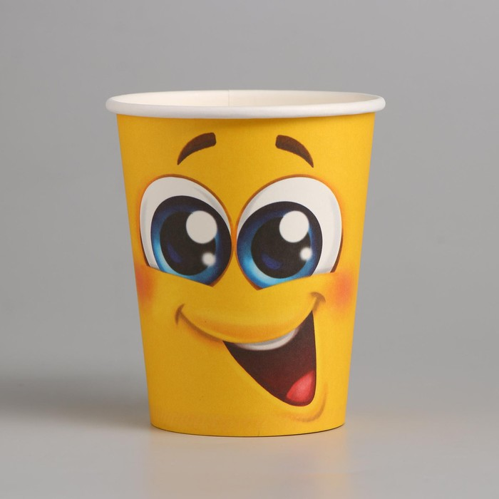 """Glass paper """"Smiley"""", 250ml."""