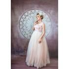 """Свадебное платье """"Даниэлла"""" пудровое. Евро-фатин,корсет,маечка, кружево 42-44"""