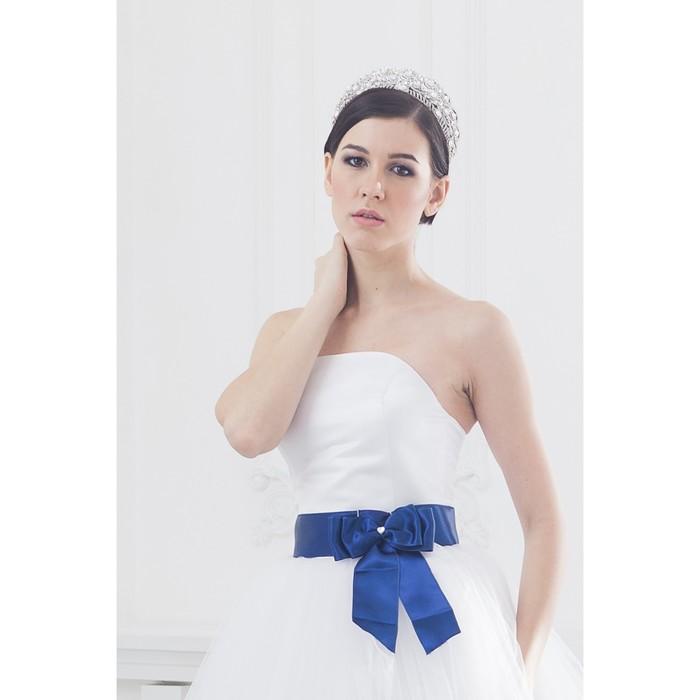 """Свадебное платье """"Элен премиум"""" молочное/белое, без шлейфа, атласный корсет 46-48"""