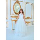 """Свадебное платье """"Зареслава"""", верх из кружева с круглым вырезом, корсет, фатиновая юбка, р. 42-44"""