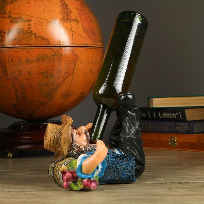 """Подставка под бутылку """"Ковбой лежит на бочке"""" 18х26см"""
