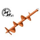 Шнек для грунта Carver GDB-200, однозаходный, d пос=20мм, d=200мм, L=80см