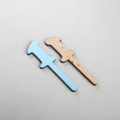 """Шпажка """"Цифра"""", цвет голубой ,набор 10шт"""