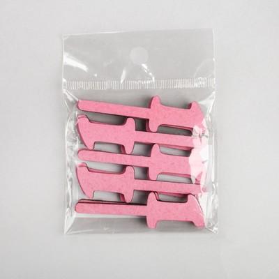 """Шпажка """"Цифра"""", ярко-розовый, набор 10 шт."""