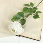 """Цветок искусственный """"Роза Heritage"""" 9*67 см, белый"""