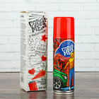 Спрей - краска меловая с трафаретами 160 мл, цвет красный