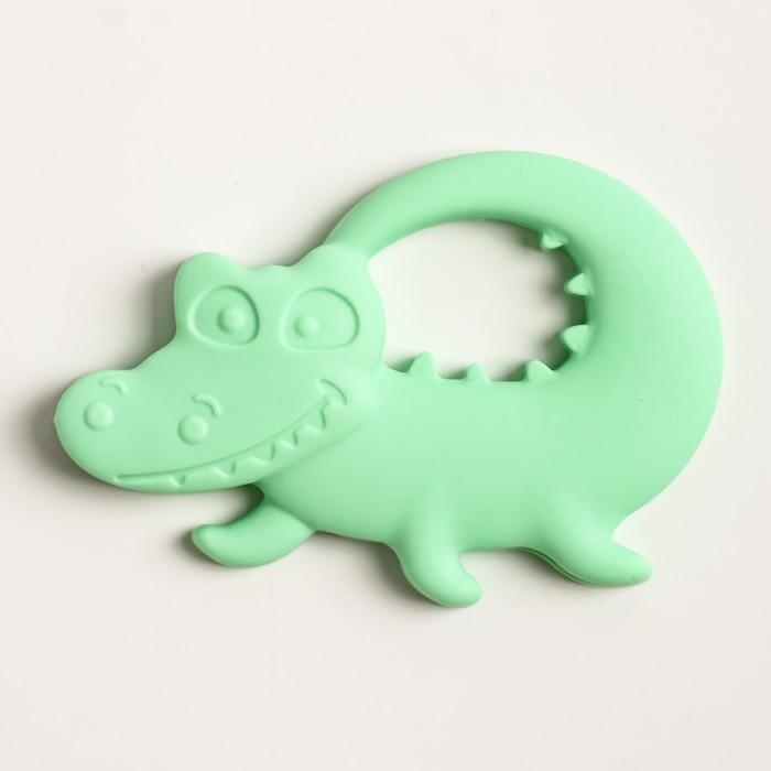 Прорезыватель силиконовый «Крокодильчик», цвет МИКС - фото 105526126