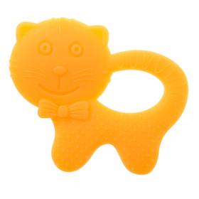 Прорезыватель силиконовый «Котик», цвет МИКС