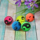 "The ball rubber ""Faces"" 2.4 cm, MIX colors"