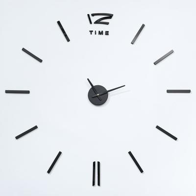 """Часы-наклейка DIY """"Кайро"""", чёрные, 65 см"""