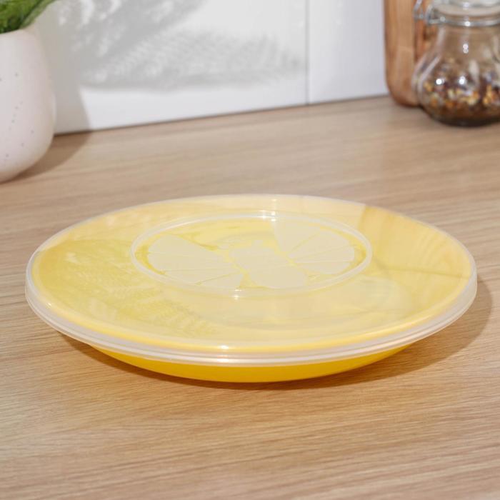 1000 Мелочей - Тарелка 18 см, с герметичной крышкой, цвета МИКС