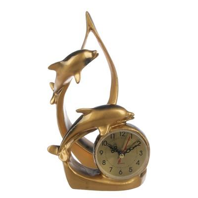 """Часы настольные """"Парочка дельфинов"""", 23х15 см"""