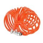 """Шланг пневматический спиральный """"Кратон"""", PE, 7,5 м, 0.25 кг"""