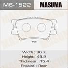 Колодки дисковые Masuma MS1522