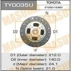 Диск сцепления Masuma  TYD035