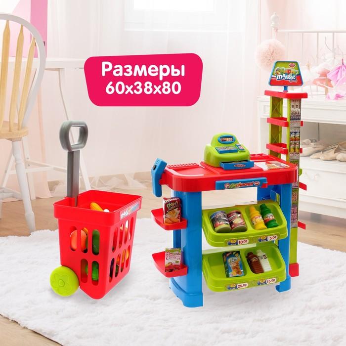 """Игровой модуль """"Торговая лавка"""" с тележкой и аксессуарами"""