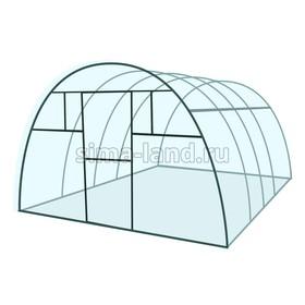 Каркас теплицы «Комфорт», 4 × 3 × 2,1 м, металл, профиль 20 × 20 мм, шаг 1 м, 1 мм, без поликарбоната Ош