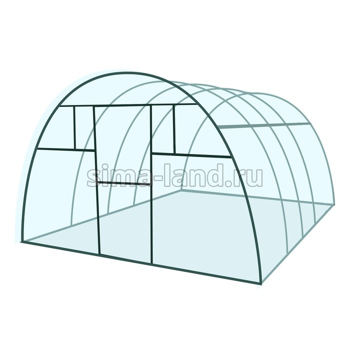 Каркас теплицы «Премиум», 4 × 3 × 2,1 м, металл, профиль 40 × 20 мм, без поликарбоната, 4 форточки,