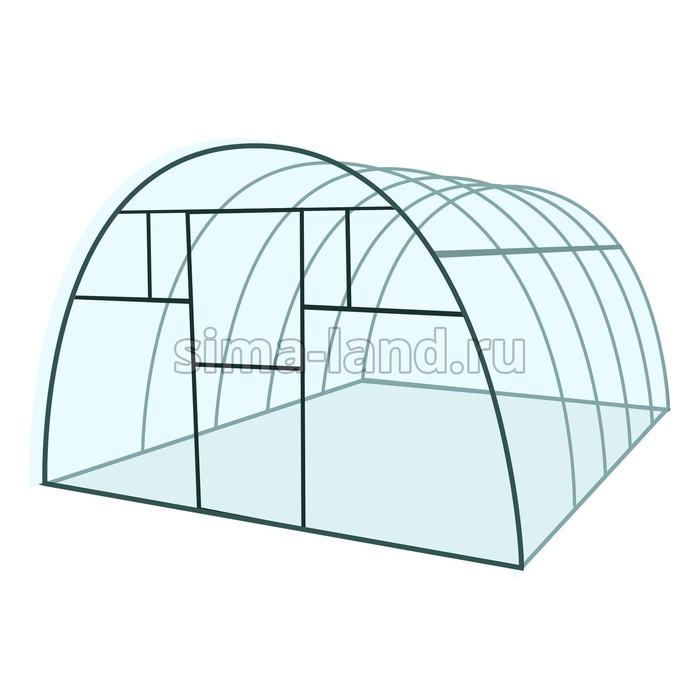 Каркас теплицы «Премиум», 8 × 3 × 2,1 м, металл, профиль 40 × 20 мм, без поликарбоната, 4 форточки,