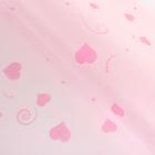 """Фетр ламинированный """"Розовые сердца"""", 60 х 60 см"""