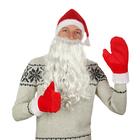 """Набор""""Деда Мороза""""колпак красный,плюш,варежки,борода,обхват головы 54-58"""