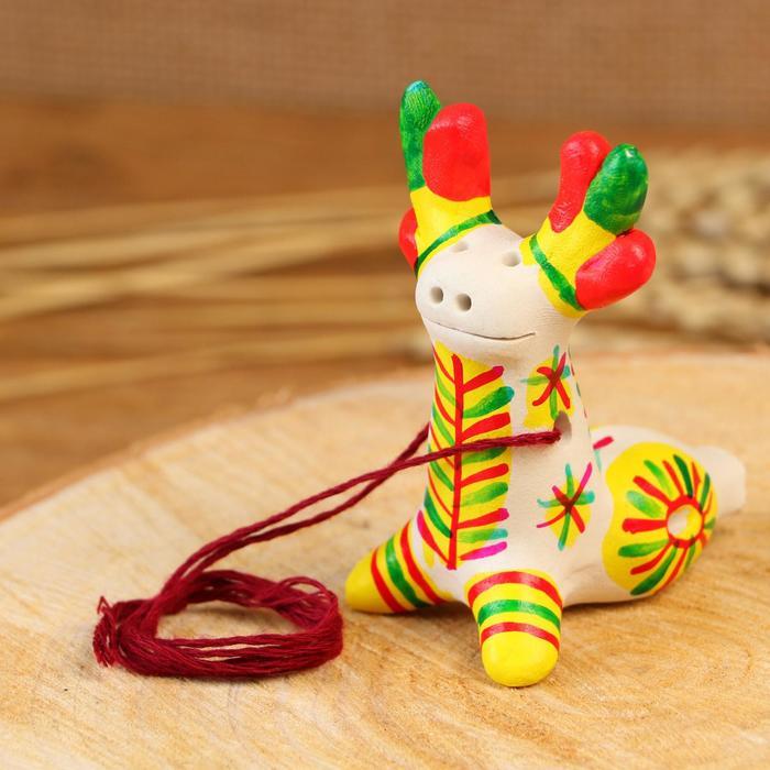 Филимоновская игрушка - свисток «Олень»