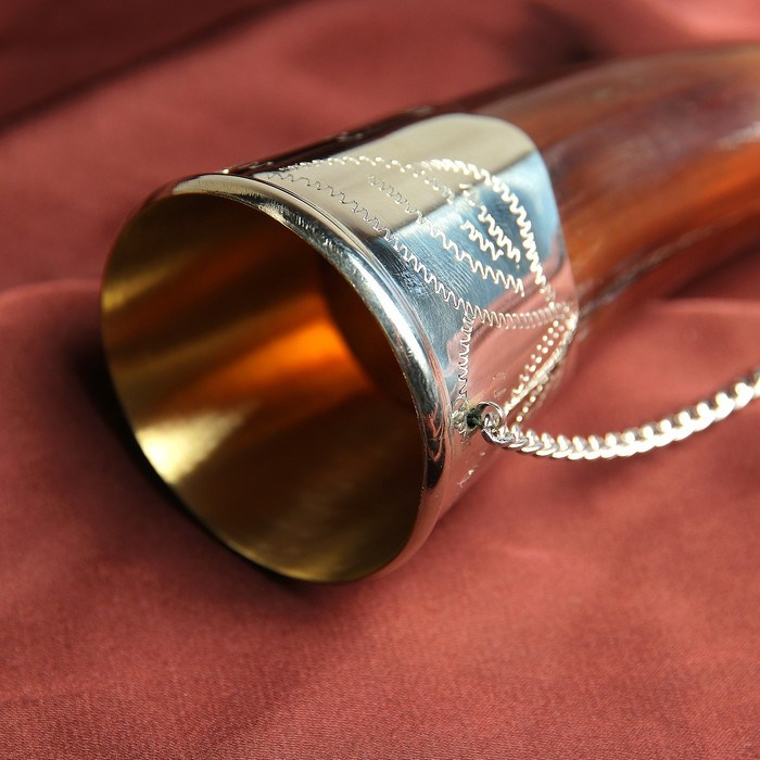 """Сувенирный рог для вина """"Эльбрус""""  ручная работа, 15 см"""