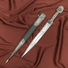 "Dagger gift ""IRBIS"" No. 1 leather, Nickel silver"