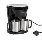 Кофеварка GL-540, 500 Вт, резервуар 0.24 л, 2 чашки, черный