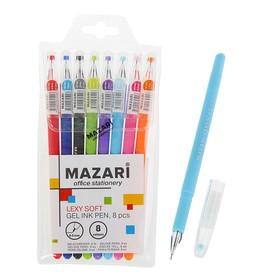 Набор гелевых ручек 8 цветов Lexy Soft, игольчатый пишущий узел 0.5 мм