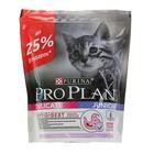 Акция! Сухой корм PRO PLAN для котят с чувствительным пищеварением, индейка, 400 г