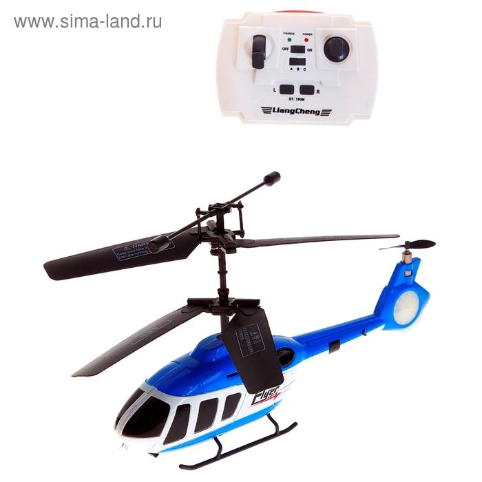 """Вертолёт на радиоуправлении """"Спасатель"""", цвета МИКС, в пакете"""