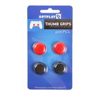 Накладки защитные на джойстики геймпада, Artplays Thumb Grips, 4шт(красный/черный), для PS 4   29060