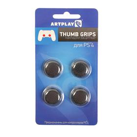 Накладки защитные на джойстики геймпада, Artplays Thumb Grips, 4 шт, черные, для PS 4 Ош