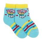 Носки детские плюшевые, цвет светло-бирюзовый, размер 14-16