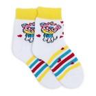 Носки детские плюшевые, цвет белый, размер 14-16