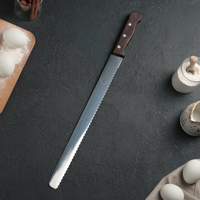 Нож для бисквита крупные зубцы, рабочая поверхность 35 см